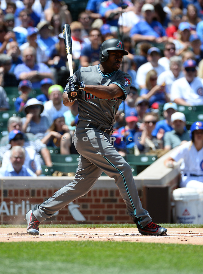 Arizona Diamondbacks Michael Bourn (1) during a game against the Chicago Cubs on June 5, 2016 at Wrigley Field in Chicago, IL. The Diamondbacks beat the Cubs 3-2.