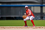 21 February 2019: Washington Nationals infielder Wilmer Difo takes infield drills during a Spring Training workout at the Ballpark of the Palm Beaches in West Palm Beach, Florida. Mandatory Credit: Ed Wolfstein Photo *** RAW (NEF) Image File Available ***