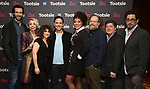 """John Behlmann, Julie Halston, Sarah Stiles, Santino Fontana, Lilli Cooper, Andy Grotelueschen, Michael McGrath and Reg Rogers attend the Cast Meet & Greet for Broadway's """"Tootsie"""" The Musical at the New York Mariott Marquis Hotel on March 13, 2019 in New York City."""