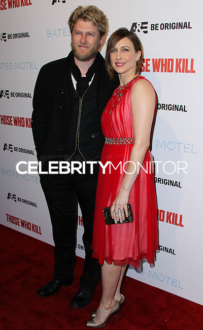 "HOLLYWOOD, LOS ANGELES, CA, USA - FEBRUARY 26: Renn Hawkey, Vera Farmiga at the Premiere Party For A&E's Season 2 Of ""Bates Motel"" & Series Premiere Of ""Those Who Kill"" held at Warwick on February 26, 2014 in Hollywood, Los Angeles, California, United States. (Photo by Xavier Collin/Celebrity Monitor)"