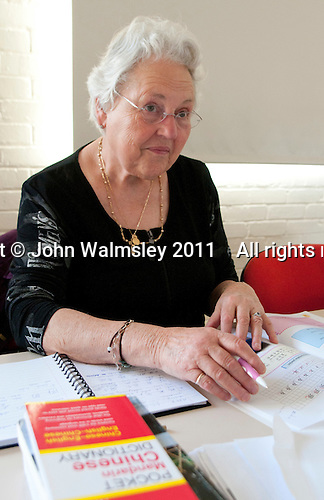 Students, Mandarin Chinese class, Adult Learning Centre, Guildford, Surrey.