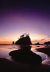 Sunset, Second Beach, Olympic Peninsula, Washington, USA