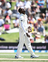 23rd November 2019; Mt Maunganui, New Zealand;  England's Jofra Archer shows his frustration during play on Day 3, 1st Test match between New Zealand versus England. International Cricket at Bay Oval, Mt Maunganui, New Zealand.  - Editorial Use