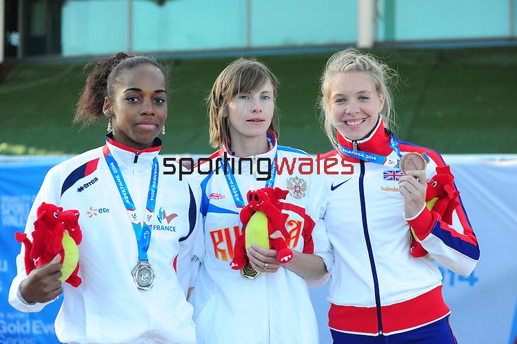 IPC European Athletics Championship 2014<br /> Swansea University<br /> <br /> Medal ceremony: Women's 400m T37.<br /> <br /> 22.08.14<br /> Chris Vaughan-SPORTINGWALES