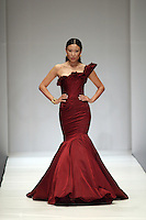 HOUSTON, TX - NOVEMBER 13 : Model walks the runway during a Zac Posen show on day two of Fashion Houston Spring 2013 Presented By Audi at the Wortham Theatre Center on November 13, 2012 in Houston, Texas. (Photo by Louis Dollagaray/MediaPunch inc) /NortePhoto/nortephoto@gmail.com