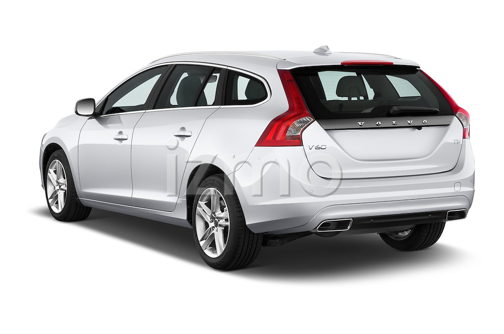 Car pictures of rear three quarter view of a 2015 Volvo V60 T5 Drive-E FWD Door wagon Angular Rear