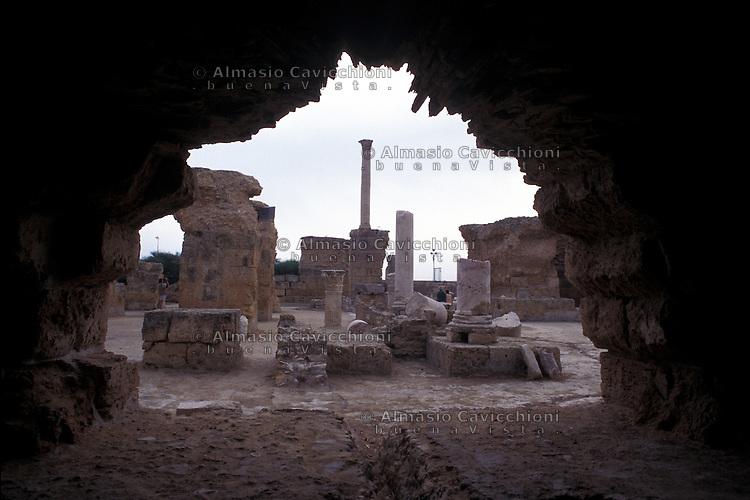 Tunisia, rovine dell'antica citt&agrave; di Cartagine.<br /> Tunisia, ruins of the ancient city of Carthage.