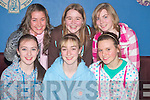 St Joseph's under sixteen   basketball team who were presented with medals in The Fr. Casey Club House Abbeyfeale on Saturday. . Front l-r Rachel Collins, Aisling Cronin, Katie O'Sullivan.  Back l-r Eabhnait Scanlon, Sarah Sheehy and Amy O'Connor....   Copyright Kerry's Eye 2008