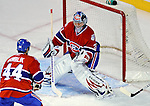 11 November 2008:  Montreal Canadiens' goaltender Carey Price in action in the first period against the Ottawa Senators at the Bell Centre in Montreal, Quebec, Canada. The Canadiens outplayed the visiting Senators 4-0 with Price capturing his first shut-out of the season. ***Editorial Sales Only***..Mandatory Photo Credit: Ed Wolfstein Photo *** Editorial Sales through Icon Sports Media *** www.iconsportsmedia.com