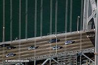 aerial photograph San Francisco bay bridge