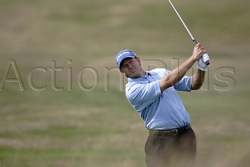 15 July 2005: South African golfer Retief Goosen (RSA) plays an iron during the second round. Goosen shot a 1 over par 73 to be 3 under par in The Open Championship on The Old Course at St Andrews, Scotland. Photo: Glyn Kirk/Actionplus....050715 golf major british