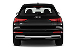 Straight rear view of 2019 Audi Q3 Advanced 5 Door SUV Rear View  stock images