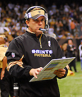 "FILE-FILE-File-Pictured is TE  Jeremy Shockey,88 , who denies being the leak to the NFL about the ""bounty system"" in place at the SAints organization. Greg Williams, Defensive Coordiantor for the New Orleans Saintshas been suspended indefiently from the NFL  because of his ""bounty system"" he had in place while coaching for the Saints during the 2009,2010 & 2011 NFL seasons. Coach Sean Payton was suspended for one year and General manager Micky Loomis was suspended for 8 games for thier roles in the ""Bounty scandal"". File Photo of Defensive coach Greg Willams and coach Sean Payton coaching during the Saints pre season game against the San Diego Chargers Friday Aug 27,2010. The San Diego charges cut Drew Brees a few years ago, allowing him to be picked up by the Saints as a free agent. The Saints won 36-21 at half time.Photo© Suzi AltmanNew Orleans Saints head coach Sean Payton speaks to the media after beating the Atlanta Falcons and going 7-0.  fans celebrate after beating the Atlanta Falcons in the SuperDome 35-17. New Orleans Saints TE  Jermey Shockey (88) grtabs the ball for a reception and a first down during the game against the Atlanta Falcons in the first half of a NFL football game in the SuperDome in Louisiana, Monday, Nov.2, 2009. The saints went on to win 35 to 27 and remain undefeated in te NFC South. Photos©SuziAltman/SuziSnaps.com.NFL New Orleans Saints Head Coach Sean Payton is focused after  yelling at  Sideline Official Bill Schmitz (122)  while Sideline Referee Mike Weatherford (116) who warns him to get off the fieild after a controversial call by Refee Ed Hochuli (85) late in the second quater during the Saints game against the Misnnesota Vikings Monday night Oct.,6,2008 at the Superdome in New Orleans  Louisiana Monday Oct. 6, 2008. Refee Ed Hochuli (85) missed a call against the Vikings for grabbing the facemask of Saints RB Reggie Bush (25) and Bush fumbled the ball as a result of the face mask. (Photo/©SuziAltman) ALL IMAGES ©SUZI ALTMAN. IMA"