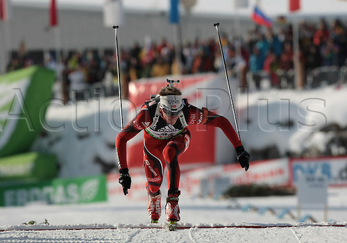 09/12/2011, Hochfilzen, Austria. SVENDSEN Emil Hegle (NOR) in action during the sprint race of the Biathlon World Cup. Men's Sprint race.