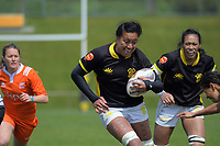 Sanita Levave in action during the 2018 Farah Palmer Cup women's rugby Championship semifinal match between Wellington Pride and North Harbour Hibiscus at Jerry Collins Stadium in Porirua, Wellington, New Zealand on Saturday, 13 October 2018. Photo: Dave Lintott / lintottphoto.co.nz