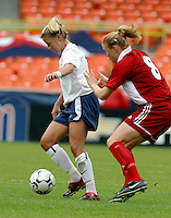 Aly Wagner, USWNT vs Canada April 26, 2003.