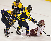 Paige Voight (Merrimack - 6), Paige Sorensen (Merrimack - 5), Dominique Kremer (Merrimack - 9), Ryan Little (BC - 20) - The number one seeded Boston College Eagles defeated the eight seeded Merrimack College Warriors 1-0 to sweep their Hockey East quarterfinal series on Friday, February 24, 2017, at Kelley Rink in Conte Forum in Chestnut Hill, Massachusetts.The number one seeded Boston College Eagles defeated the eight seeded Merrimack College Warriors 1-0 to sweep their Hockey East quarterfinal series on Friday, February 24, 2017, at Kelley Rink in Conte Forum in Chestnut Hill, Massachusetts.