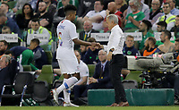 Dublin, Ireland - Saturday June 02, 2018: Weston McKennie, Dave Sarachan during an international friendly match between the men's national teams of the United States (USA) and Republic of Ireland (IRE) at Aviva Stadium.