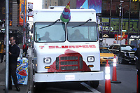 NEW YORK, NY - MAY 14: Deadpool 2 Ice Cream Truck seen at Good Morning America in New York City on May 14, 2018. <br /> CAP/MPI/RW<br /> &copy;RW/MPI/Capital Pictures