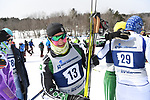 FRANCONIA, NH - MARCH 11:   Callan Deline of Dartmouth recovers in the finish area after the Men's 20K Freestyle event at the Division I Men's and Women's Skiing Championships held at Jackson Ski Touring on March 11, 2017 in Jackson, New Hampshire. (Photo by Gil Talbot/NCAA Photos via Getty Images)