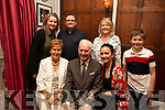 George Weir from Ballymullen celebrating his 82nd birthday and his granddaughter Laine Weir also celebrating her birthday in the Denny Lane Bistro on Saturday night.<br /> Seated l to r: George, Margaret and Laine Weir.<br /> Back l to r: Gina Weir, Liam Scanlon, Evelyn Weir and Billy Scanlon.