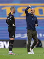 Manchester City manager Pep Guardiola (right) giving instructions to Manchester City's Kyle Walker (left) <br /> <br /> ort. All rights reserved. 43 Linden Ave. Countesthorpe. Leicester. England. LE8 5PG - Tel: +44 (0) 116 277 4147 - admin@camerasport.com - www.camerasport.com