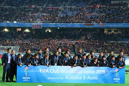 Sanfrecce Hiroshima team group, <br /> DECEMBER 20, 2015 - Football / Soccer : <br /> FIFA Club World Cup Japan 2015 <br /> award ceremony  <br /> at Yokohama International Stadium in Kanagawa, Japan.<br /> (Photo by Yohei Osada/AFLO SPORT)
