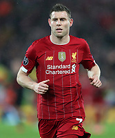 11th March 2020; Anfield, Liverpool, Merseyside, England; UEFA Champions League, Liverpool versus Atletico Madrid;   James Milner of Liverpool