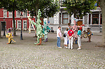 Artwork display in Vrijthof square, Maastricht, Limburg province, Netherlands