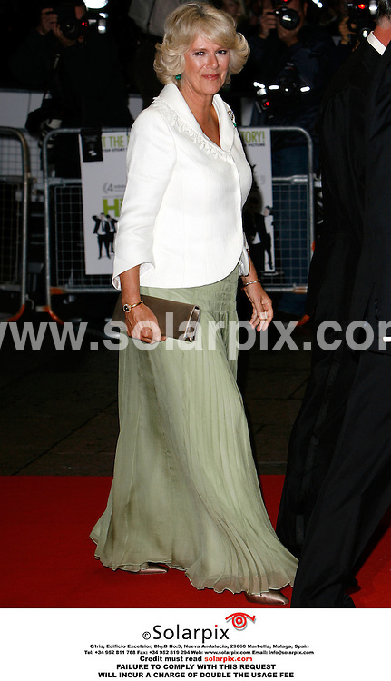 ALL ROUND PICTURES BY SOLARPIX.COM. .The Duchess of Cornwall arrives for the premiere of The History Boys at the Odeon in Leicester Square, London.  JOB REF:2867 - PRS..MUST CREDIT SOLARPIX.COM OR DOUBLE FEE WILL BE CHARGED.....