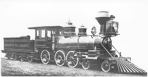 3/4 engineer's-side builder's photo of standard gauge D&amp;RG Ten-Wheeler #157 at Baldwin Locomotive Works.<br /> D&amp;RG  Philadelphia, PA  Taken by , Baldwin Locomotive Works - 1882