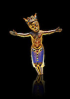 Limoges figure of Christ from a Gothic Crucifix, circa 1200-1220. Copper engraving embossing, laced with an application of Champlevé enamelling and glass beads. Origin Unknow. Inv MNAC 4100. National Museum of Catalan Art (MNAC), Barcelona, Spain