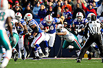 29 November 2009: Buffalo Bills' quarterback Ryan Fitzpatrick is hurried before being sacked during a game against the Miami Dolphins at Ralph Wilson Stadium in Orchard Park, New York. The Bills defeated the Dolphins 31-14. Mandatory Credit: Ed Wolfstein Photo