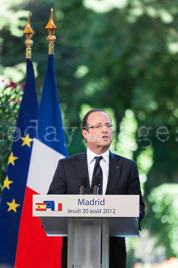 François Hollande at the french residence in Madrid