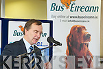 Martin Cullen, Minister for Transport TD during the.official opening of the Bus Eireann Bus Station in Tralee on Monday.