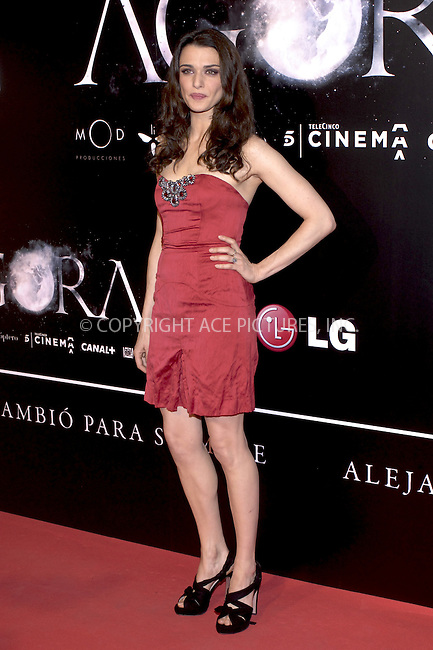 WWW.ACEPIXS.COM . . . . .  ..... . . . . US SALES ONLY . . . . .....October 6 2009, Madrid....Actress Rachel Weisz attends the 'Agora' premiere at Kinepolis Cinema on October 6, 2009 in Madrid, Spain.....Please byline: FD-ACE PICTURES... . . . .  ....Ace Pictures, Inc:  ..tel: (212) 243 8787 or (646) 769 0430..e-mail: info@acepixs.com..web: http://www.acepixs.com