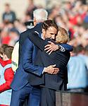 Gareth Southgate and Gordon Strachan at the end