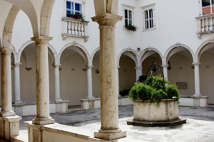 The Cloisters of St Francis monastry - Piran Slovenia.