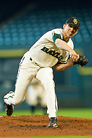 Starting pitcher Trent Blank #22 of the Baylor Bears in action against the Utah Utes at Minute Maid Park on March 5, 2011 in Houston, Texas.  Photo by Brian Westerholt / Four Seam Images
