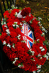 LONDON, ENGLAND, 22 May ,2014.  A 'Rider of Respect' wreath laid to commemorate the first anniversary of the murder of Fusilier Lee Rigby  near his Woolwich barracks.