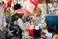 Nederland  Amsterdam 2016 01 28 . Markt op het Anton de Komplein. Kraam met etherische olien en accessoires uit het Amazonegebied