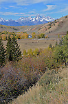 The Grand Tetons from Gros Ventre Valley  The Grand Tetons seen from the Gros Ventre Valley in autumn