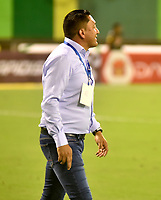 BARRANCABERMEJA- COLOMBIA - 10 - 05 - 2017: Diego Corredor, técnico de Patriotas F.C., durante partido Alianza Petrolera y Fortaleza FC, de la fecha 17 por la Liga Aguila I 2016 en el estadio Daniel Villa Zapata en la ciudad de Barrancabermeja. / Diego Corredor, coach Patriotas F.C., during a match between Alianza Petrolera and Patriotas F.C., for date 17th the Liga Aguila I 2017 at the Daniel Villa Zapata stadium in Barrancabermeja city. Photo: VizzorImage  / Jose D Martinez / Cont.