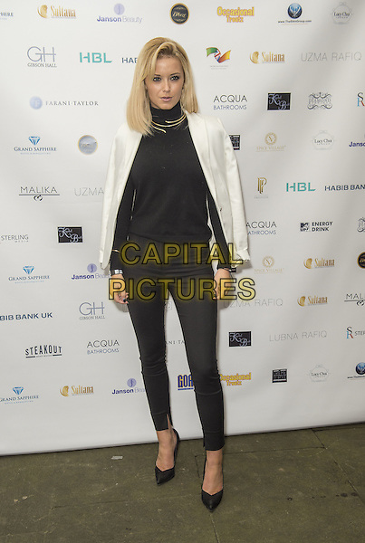 Olivia Bentley attends the India, Pakistan and London Fashion Show (IPL Fashion Show) at The Gibson Hall in London, England on the 4th March 2017 <br /> CAP/GM/PP<br /> &copy;Gary Mitchell/PP/Capital Pictures