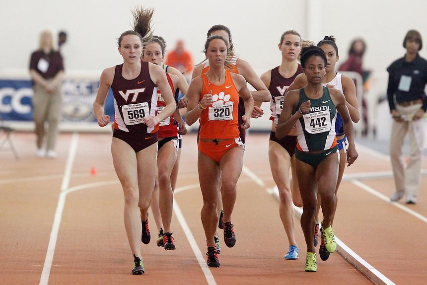 Virginia Tech's Hanna Green (569) Clemson's Brianna Blanton (320) Miami's Alaine Tate (442)
