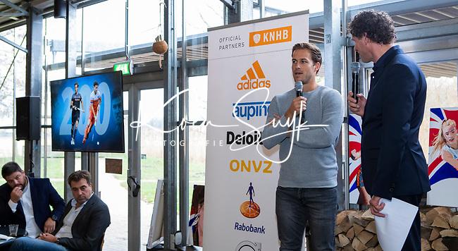 VOGELENZANG - Jeroen Hertzberger (Ned) speelde 200 interlands. Spelerslunch KNHB 2019.   COPYRIGHT KOEN SUYK