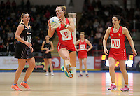 07.02.2017 Wales Kyra Jones in action during the Wales v Silver Ferns netball test match at Swansea University at Ice Arena Wales. Mandatory Photo Credit ©Ian Cook/Michael Bradley Photography.
