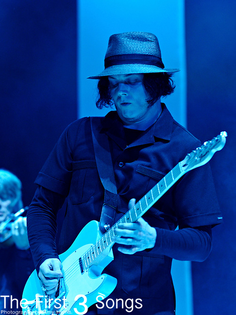 Jack White performs during the Hangout Music Fest in Gulf Shores, Alabama on May 18, 2012.