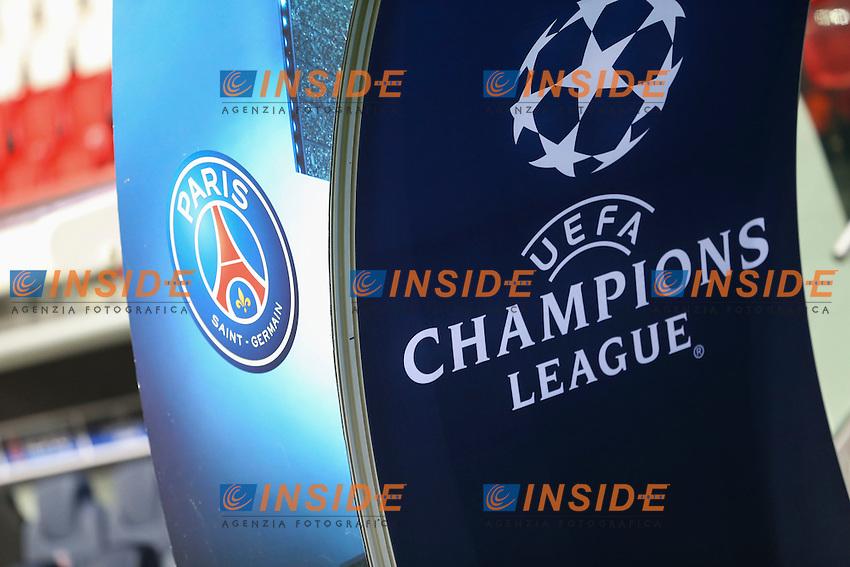 Panoramica Stadio Parc des Princes Logo <br /> Parigi 14-02-2017 Parco dei Principi <br /> Paris Saint Germain - Barcellona Champions League 2016/2017 <br /> Foto Gwendoline Le Goff / Panoramic / Insidefoto
