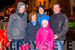 L-R Darragh, Mary, Gavin, Jennifer and James Lyne from Killarney at the Christmas in Killarney Children's Magic Parade last Saturday.
